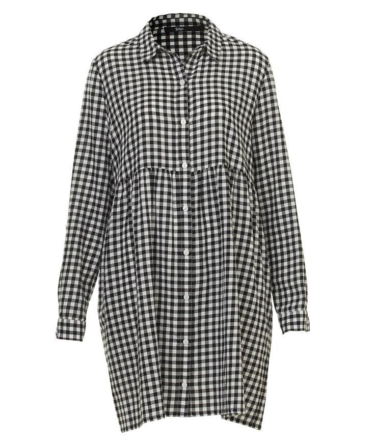 Mono Check Shirt dress from @sportsgirl. #sportsgirls #fashion #aw16 #geekchic #perth #gardencityperth #GCAW16
