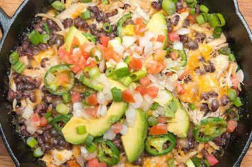 These Loaded Sweet Potato Nachos Are So Satisfying  Add some chili powder or cumin or something to the chicken though