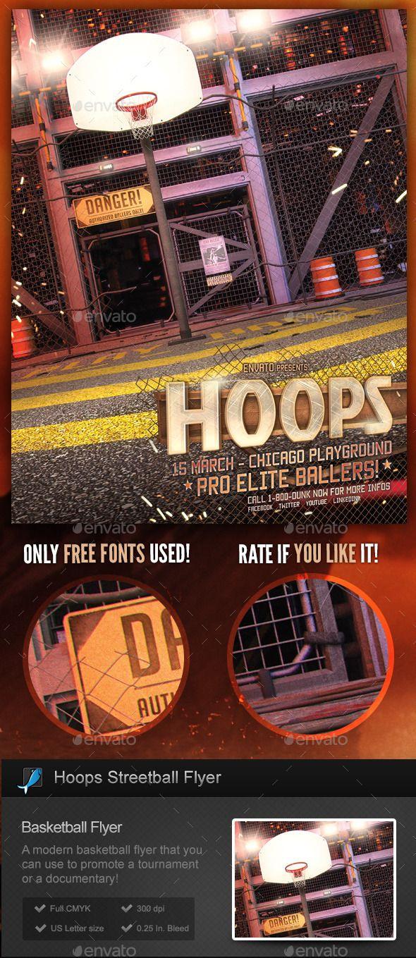 Streetball / Basketball Flyer Template