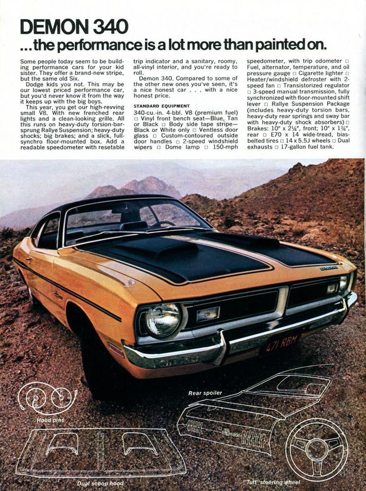 1971 Dodge Demon advertisement