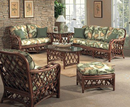 Rattan Indoor Furniture: Cambridge Rattan Set Of 5 By Wicker Liked From The  Comfort Of A Luxurious Wicker Sofa.