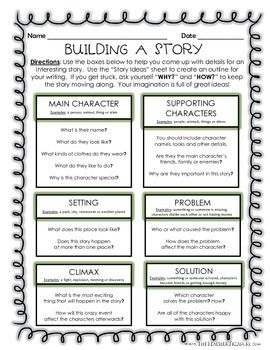 008 Building A Story Creative Writing Outline Writing