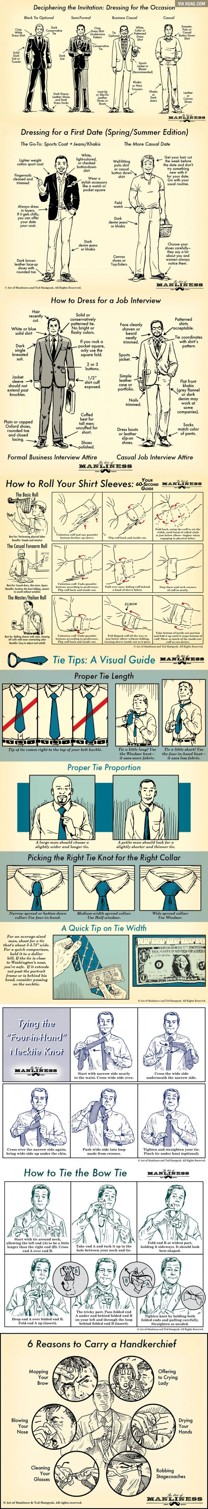 Let's Dress Manly! | #Infographic repinned by @Piktochart | Create yours at www.piktochart.com