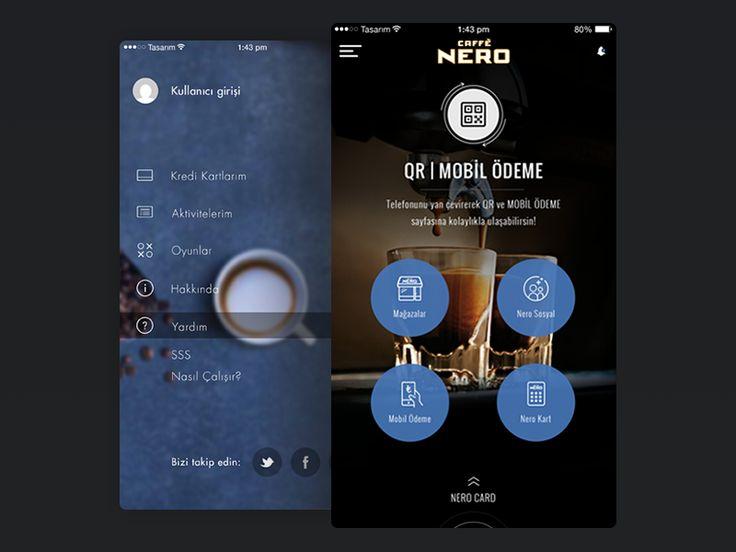 Home Page (Caffe Nero Mobile App) by Murat Yildiz