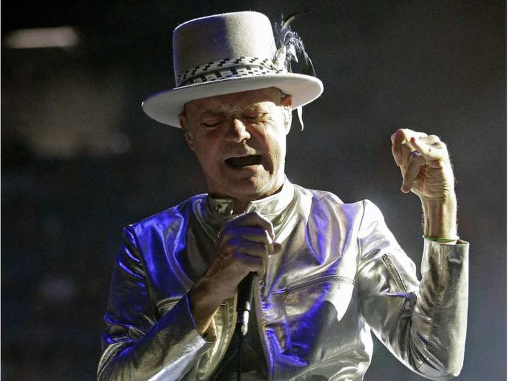 Gord Downie, from the Canadian rock band The Tragically Hip, performs in concert…