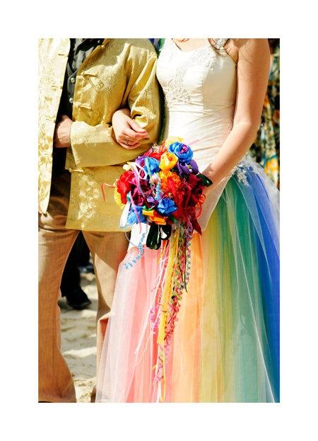 Rainbow wedding cute for a flower girl dress