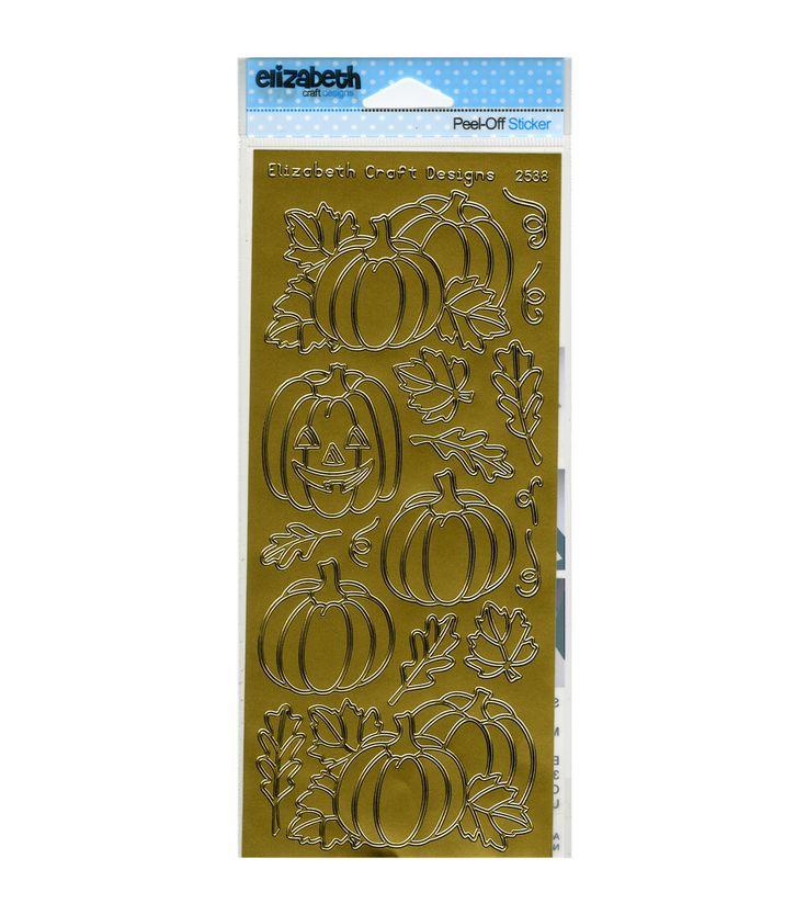 Elizabeth Craft Pumpkins Peel Off Stickers Sheet | Jo-Ann