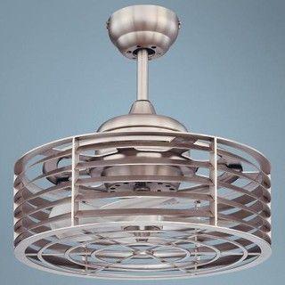 "14"" Savoy House Sea Side Satin Nickel Ceiling Fan - modern - ceiling fans - by Lamps Plus"