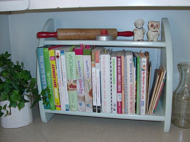 Mini Bookshelf For Cookbooks