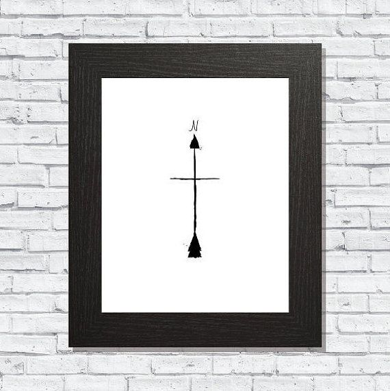 Arrow Compass Print Digital Download Printable by CreekstoPeaks