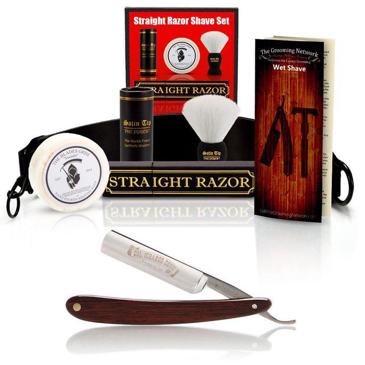 "DOVO 5/8"" ""Cocobolo"" Straight Razor with Luxury Shave Set - ClassicShaving.com"