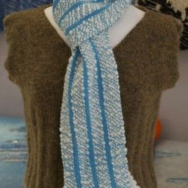 Altocumulus Handwoven Scarf by Weft Blown