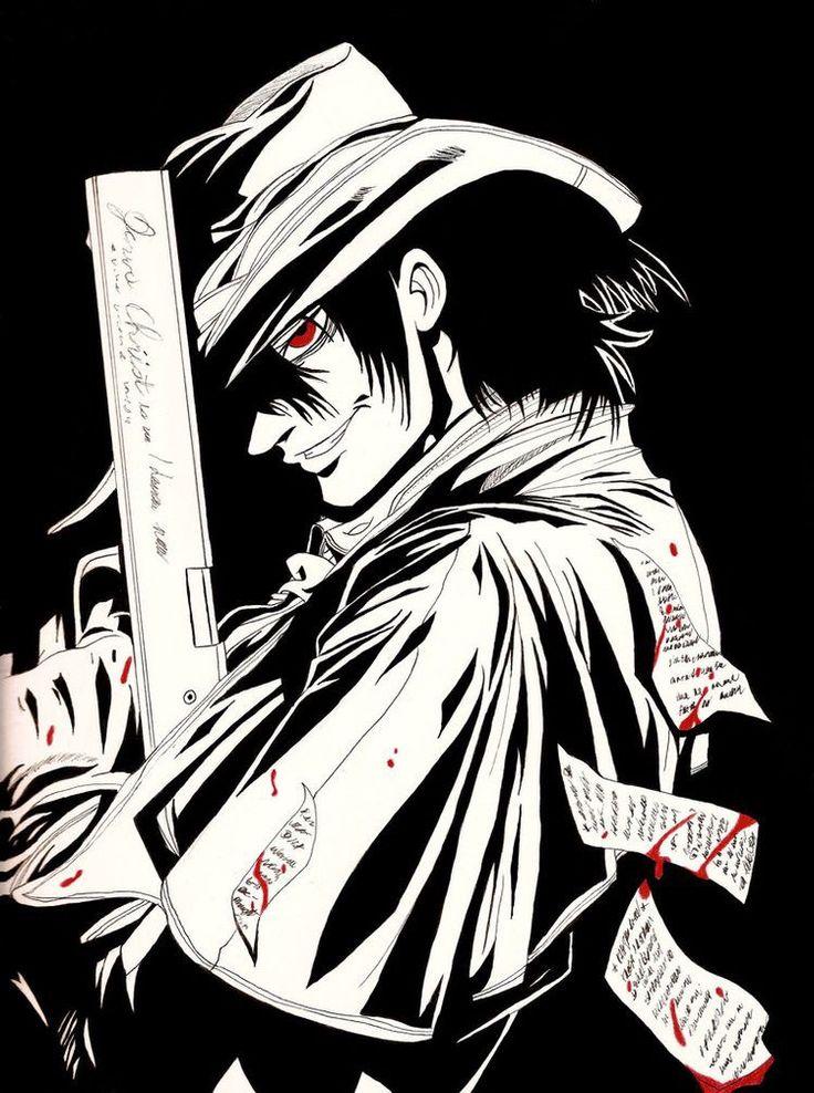 Pin de Manxlad em Hellsing Anime, Alucard, Desenho