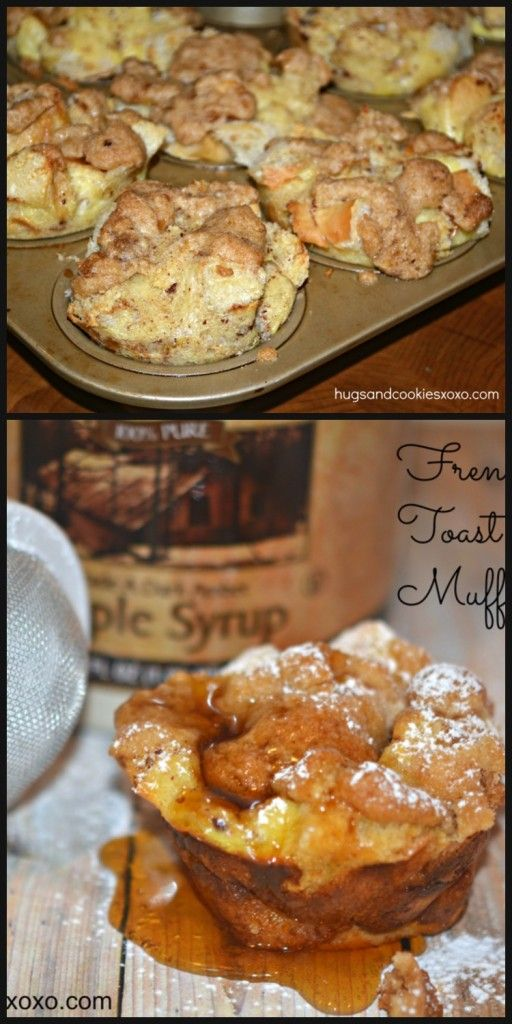 These french toast muffins are worth every single calorie. They are soft inside but the topping and the outside? Crispy!!! Sweet!! Addictive!