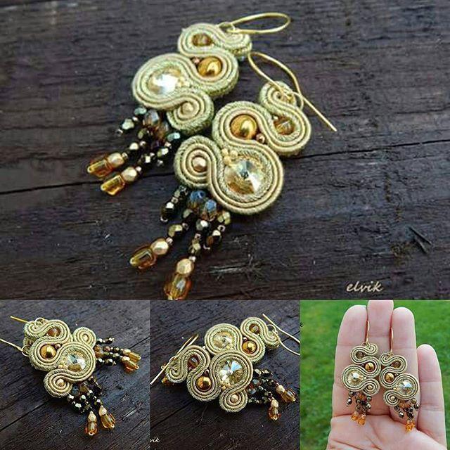 Oro earrings #sutasz #soutache #earrings #handmade #rekodzielo #kolczyki #fashion #fashiongram #jewelry #madeinpoland