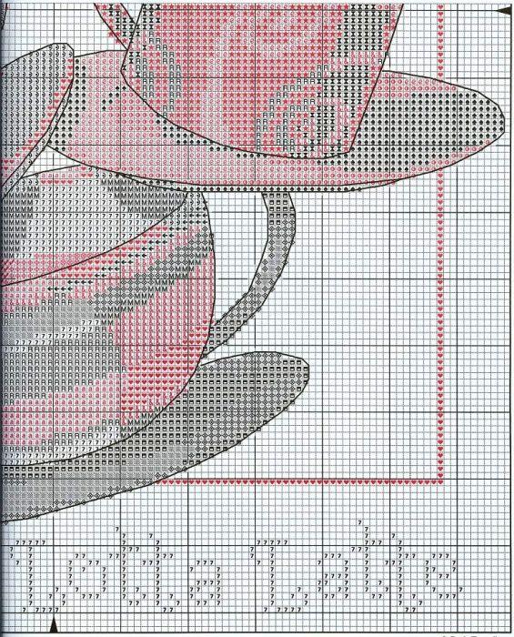 Схема вышивки Кофейная