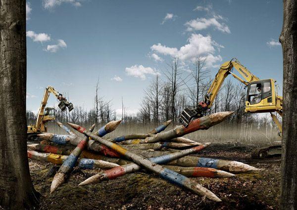 Photo Manipulation by Belgian artist Koen Demuynck.