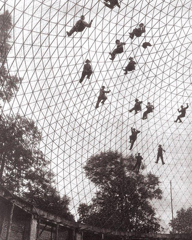 Купол в стадии строительства с использованием системы Цейсс-DYWIDAG, Jena, Германия, 1924