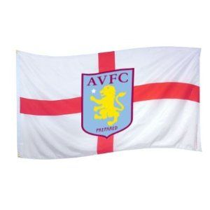 Aston Villa FC Official EPL Crest Flag St George by Aston Villa F.C.. $13.49. Quality guaranteed. Imported from the UK. 5ft x 3ft. Brand new in packaging. Officially licensed. We buy our Aston Villa soccer flags direct from the club's representatives in the UK. All Aston Villa flags are 5ft x 3ft and come in official Aston Villa FC protective packaging with hologram and/or bar codes.