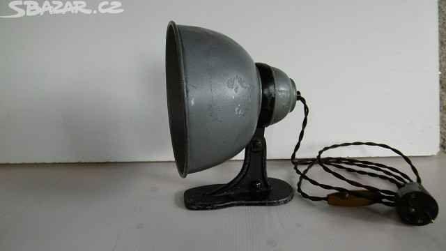 industriální kovová lampička, lampa dílenská - obrázek číslo 1