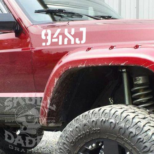 Pick your year 84 96 xj jeep cherokee stencil stickers army military graphics