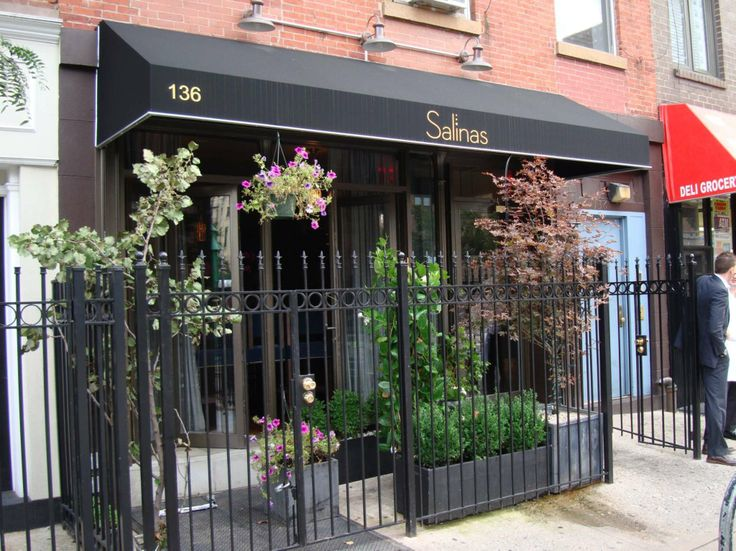 Salinas NYC 136 9th Ave in Chelsea. Beautiful interior with gorgeous flowers everywhere. Spanish cuisine and tapas.