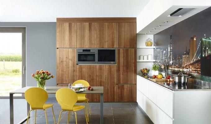 Belgisch design op maat moderne L-vormige keuken