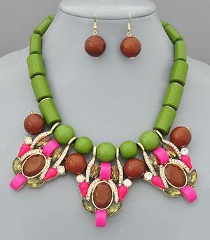 Wholesale Handbag Fashion Jewelry Necklaces Trendy NEK8815OL Wholesale Costume Jewelry at YKTrading.com
