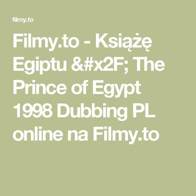 Filmy.to - Książę Egiptu / The Prince of Egypt 1998 Dubbing PL online na Filmy.to