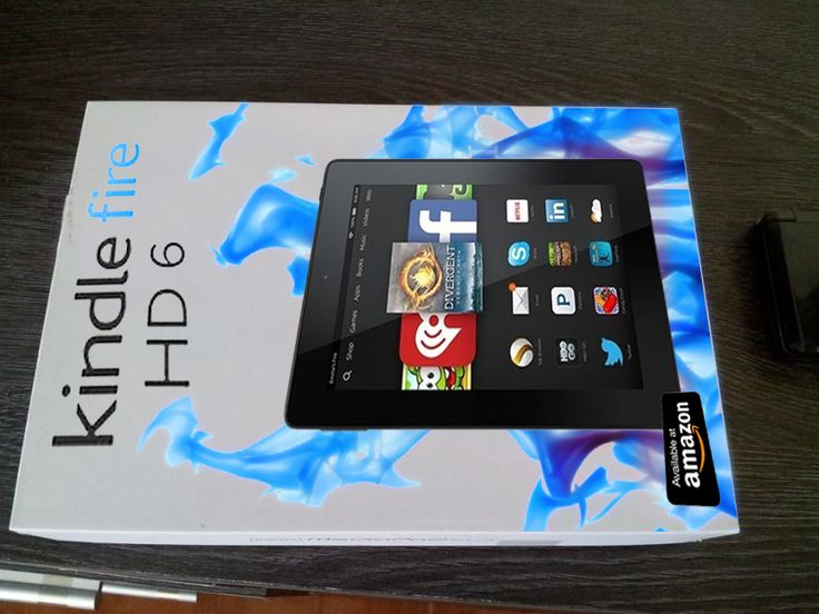 Diseño caja Amazon Kindle Fire HD 6