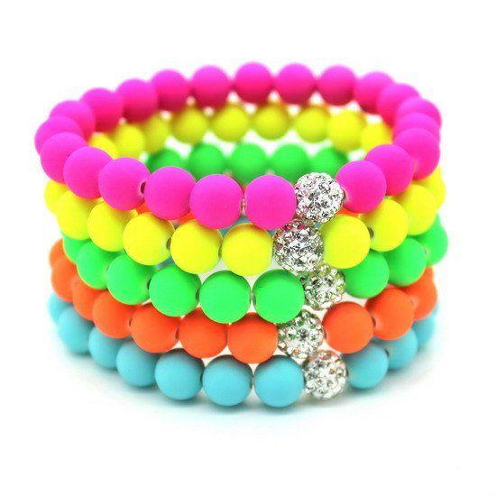 Super Cheap!New Hot! Women Bracelets Bangles 8mm Fluorescent Neon Infinity Cheap Bracelet! Stretch Charm Jewelry! Perfect Gift!