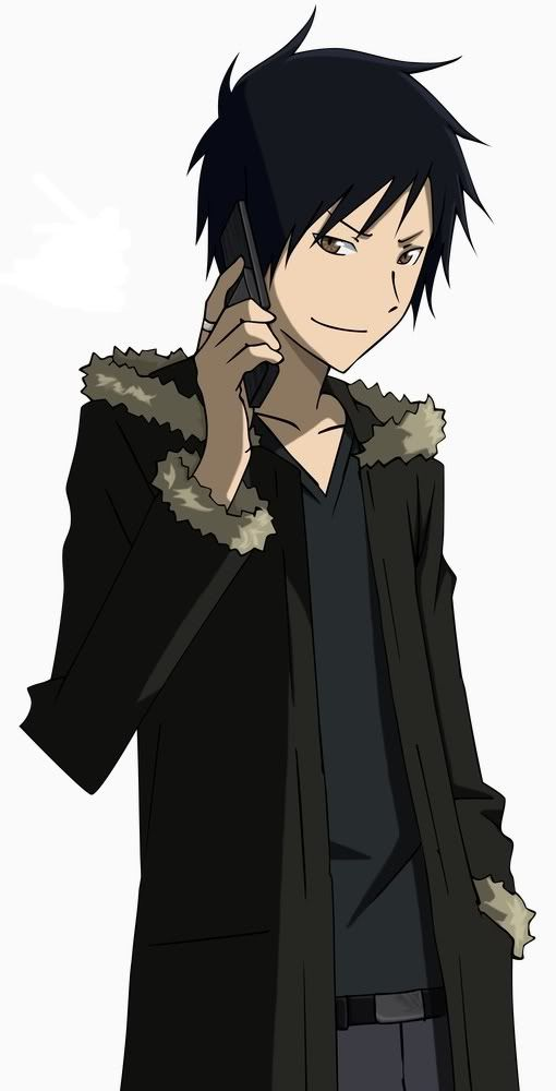 Izaya Orihara  Voiced by: Hiroshi Kamiya (Japanese), Johnny Yong Bosch (English)    he is the former antagonist of Durarara!! and the main protagonist of Shin Megami Tensei: Digital Devil Dimensions. Izaya is a college student, who summoning Persona.