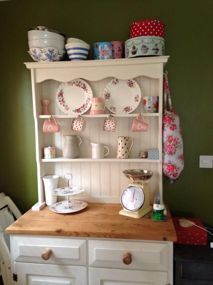 Welsh Dresser Kitchen Distressed White