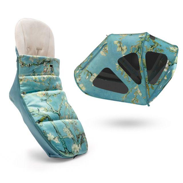 Bugaboo + Van Gogh Accessories! Footmuff and Breezy Sun Canopy #bugaboovangogh #ellaandelliot