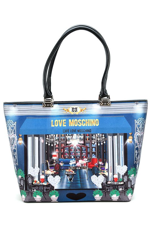 Купить Сумка Love Moschino JC4220PP0JKD0700 AZZURRO со скидкой в интернет-магазине kupivip.ru - распродажа
