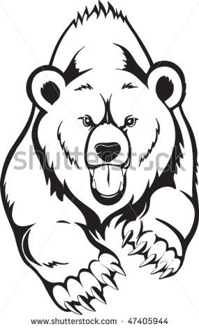 24 best bears are images on Pinterest Bear tattoos, Tribal bear - fresh realistic bear coloring pages