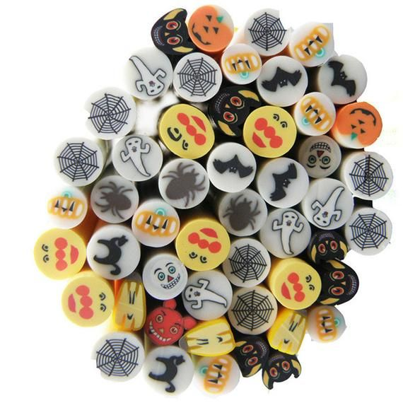 Ghost Polymer Clay Slices