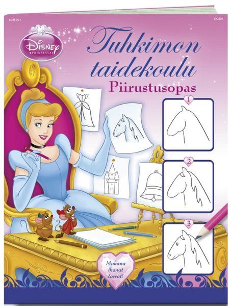 Prinsessat, Tuhkimon taidekoulu -piirrustusopas opettaa sinut piirtämään mm. hiiren, iltapuvun, linnun, hevosen ja tiaaran. Tuhkimon taidekoulussa opit vaihe vaiheelta luomaan yksinkertaisia mutta upeita piirroksia. Yhdistele kuvia ja luo kokonainen Tuhkimon maailma. Yksityiskohtia muuttamalla voit piirtää myös johonkin toiseen prinsessaan liittyviä kuvia.