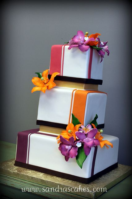 Colored Squares - love this but in wedding colors