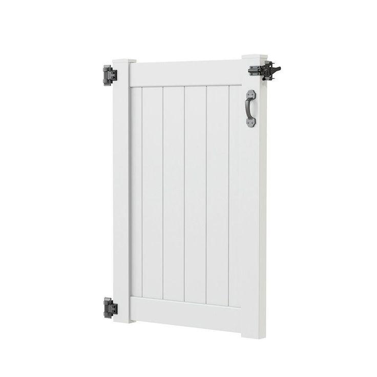 h white vinyl outdoor shower stall gate kit