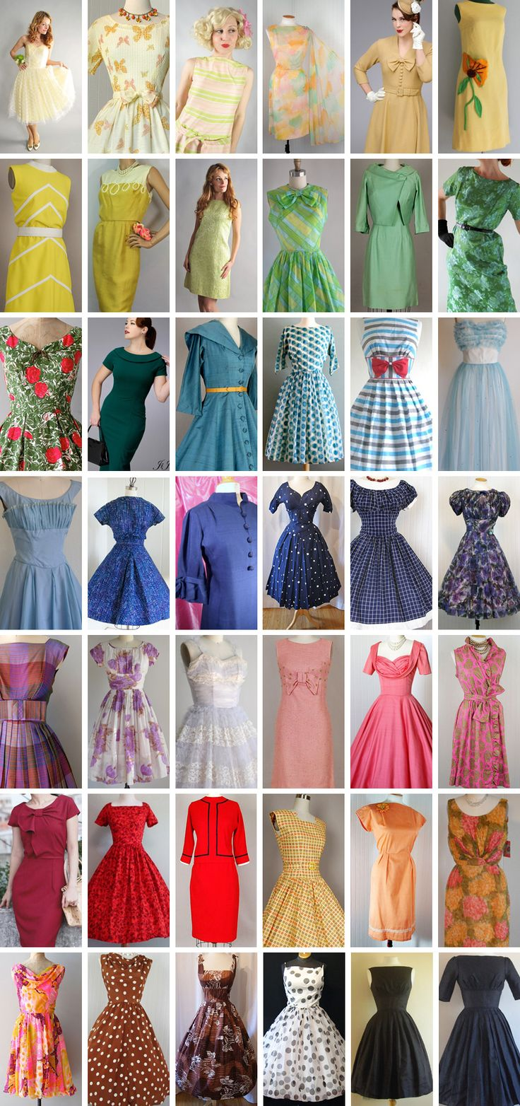 Top 12 Etsy shops for mid-century fashion by Wee Birdy.