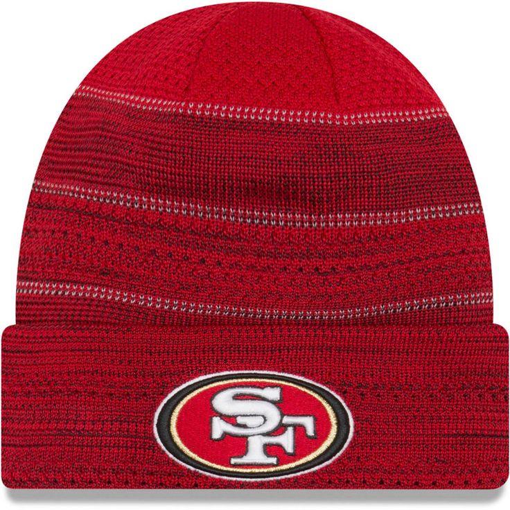 San Francisco 49ers New Era 2017 Sideline Official TD Knit Hat - Scarlet