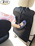 #4: Set of 2 Kick Mats with Car Backseat Organizer  Unique Large Storage Pocket for iPad Tablets - XL Premium Quality Seat Back Protectors - Universal Fit Covers by MyTravelAide