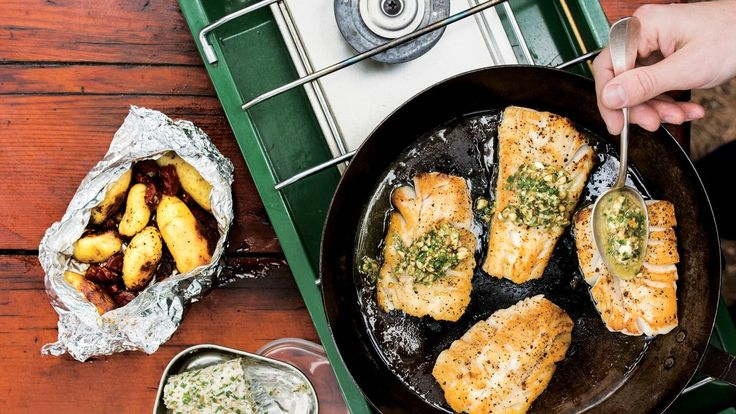 Seared Cod with potato and chorizo hobo packs | If you're camping, make this your night one dinner, when the fish is freshest.