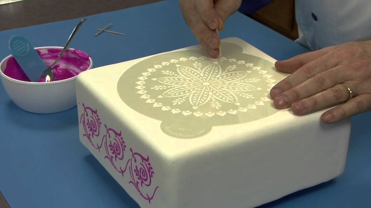 How to Stencil a Cake by Chef Alan Tetreault of Global ...