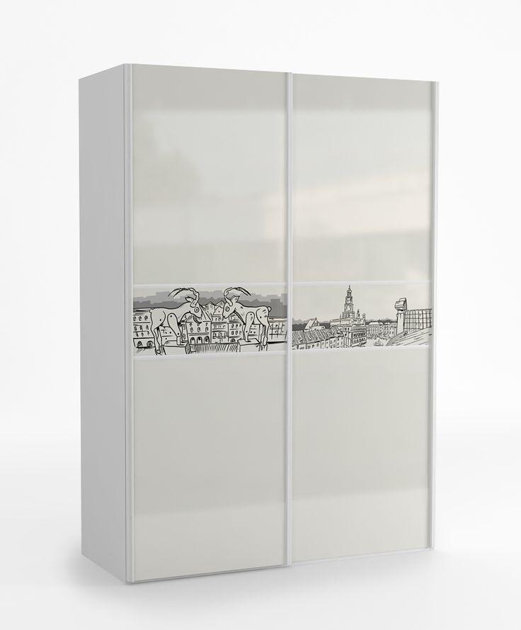 Szafa 155 o wymiarach: 2200x1550x678. duże przesuwne drzwi szafy, prowadnice firmy SEVROLL z niewidocznym mechanizmem jezdnym domykają fronty, we wnętrzu szafy mamy 6 półek oraz drążki na wieszaki (dowolność w komponowaniu wnętrza szafy), boki szafy wykonane z płyty laminowanej, fronty z płyty MDF, zamieszkaj w jednym z miast: Gdańsk, Poznań, Warszawa, Wrocław, Katowice, Kraków, Lublin lub Nowy Jork.