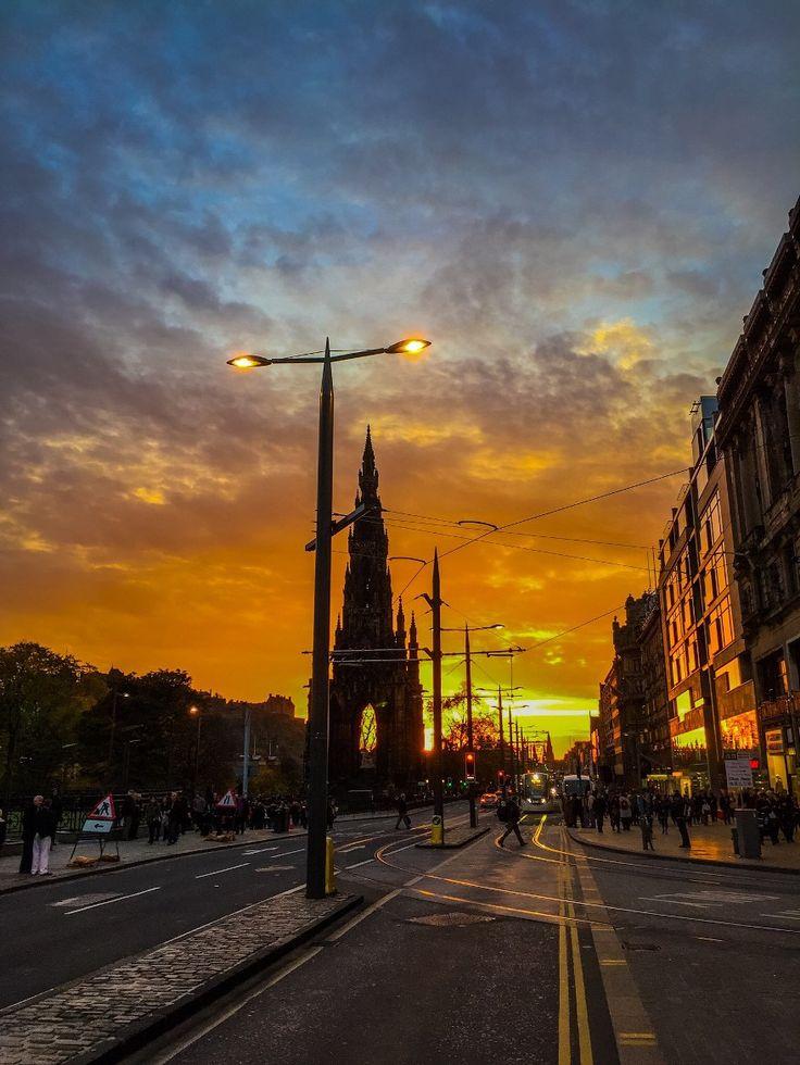 iPhone 6 - zonsondergang @ Edinburgh