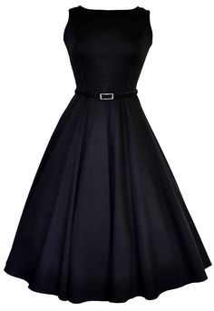 "The Black Hepburn Dress The stunning ""Lady Vintage"" 50s Audrey Hepburn Style Dress is back for 2013 in nine fabulous prints. Lady V sizes *UK* 8 - 28"