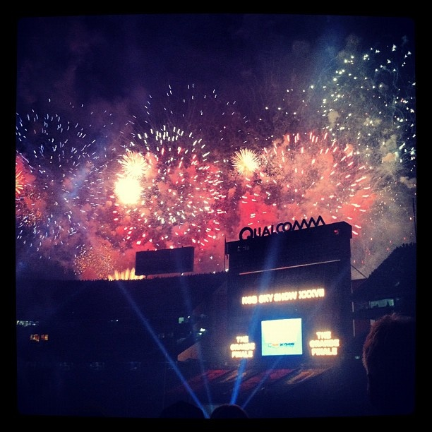 "@mattburns3's photo: ""Coolest Firework Show Ever. #SDSU #theywon"""