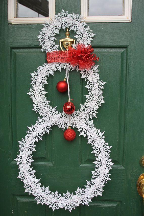 Christmas Snowflake Wreath  Whimsical by GlitterGlassAndSass #glitterglassandsass